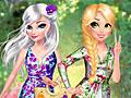 Принцессы Диснея: Цветочные принты для Эльзы и Рапунцель