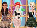 Принцессы Диснея: Платья с перьями