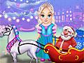 Холодное сердце: Эльза чистит рождественские сани