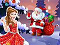 Принцессы Диснея: Новогодняя открытка