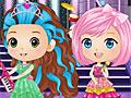 Чиби принцессы Диснея в стиле рок-н-ролла