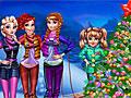 Принцессы Диснея у новогодней елки