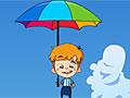 Падающий парень с зонтиком