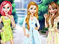 Принцессы Диснея в цветочных платьях