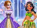 Принцессы Диснея в зимнее время