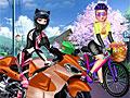 Холодное сердце: Мотоцикл против велосипеда