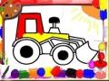Раскраска детских машинок