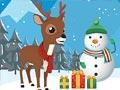 Рождественский олень пазлы
