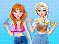Анни и Эльза: Платье с вышивкой