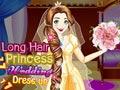 Свадебное платье принцессы с длинными волосами